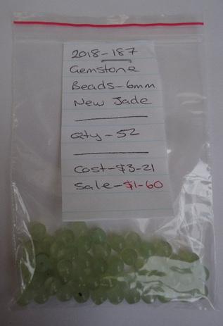 Gemstone Beads - New Jade - 6mm