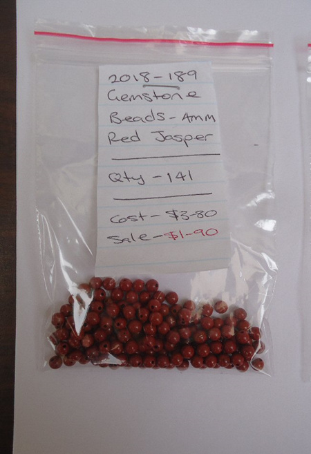 Gemstone Beads - Red Jasper - 4mm