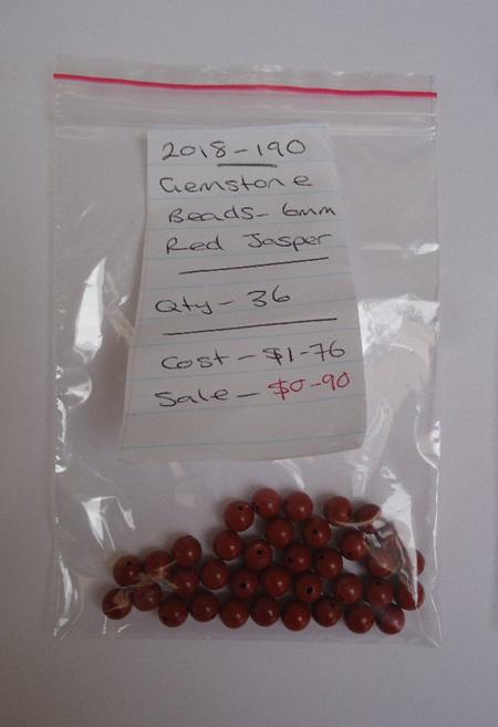 Gemstone Beads - Red Jasper - 6mm