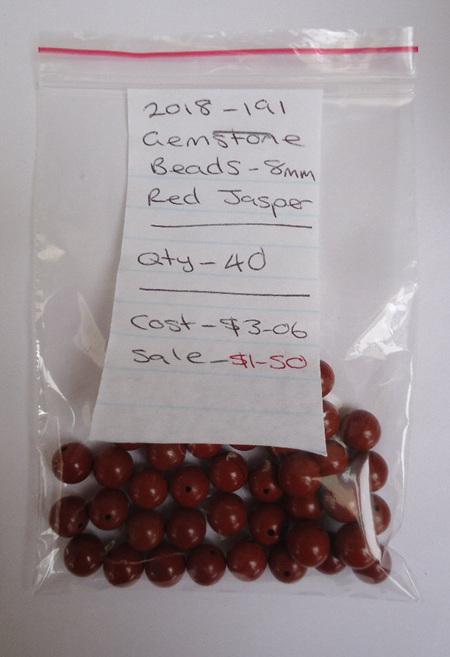 Gemstone Beads - Red Jasper - 8mm