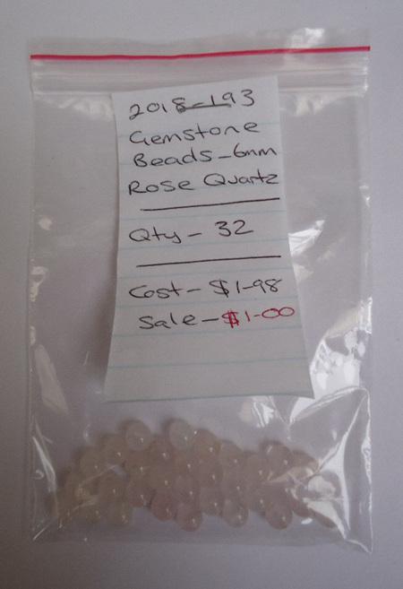 Gemstone Beads - Rose Quartz - 6mm