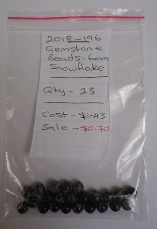 Gemstone Beads - Snowflake - 6mm