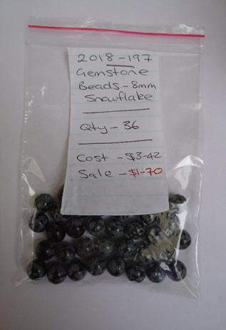 Gemstone Beads - Snowflake - 8mm