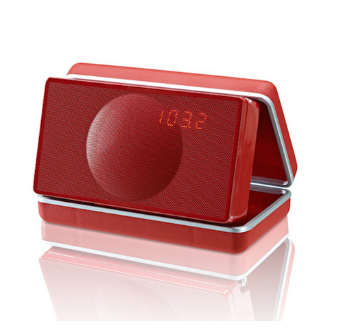 Geneva Sound XS  travel alarm clock radio with bluetooth red from Totally Wire