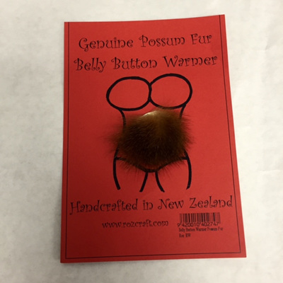 Genuine Possum Fur Belly Button Warmer
