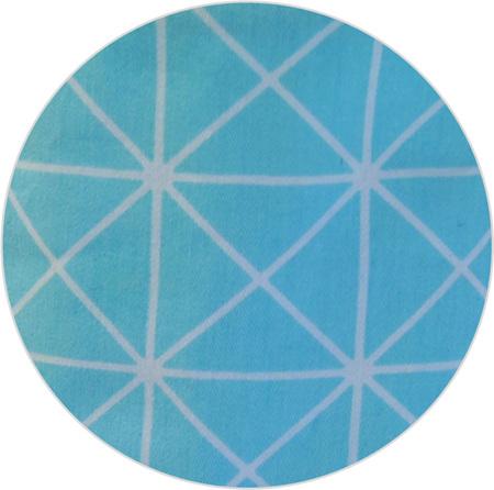 """""""Geo Blue"""", 100% Cotton"""