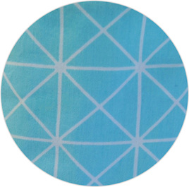 """Geo Blue"", 100% Cotton"