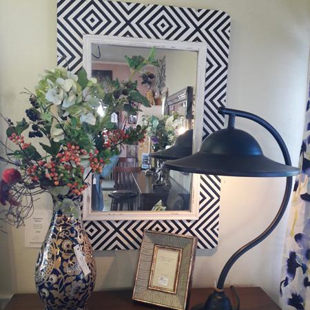 Geometric Black and White Mirror - $250