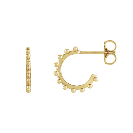 Geometric Bubble Detail Hoop Earrings