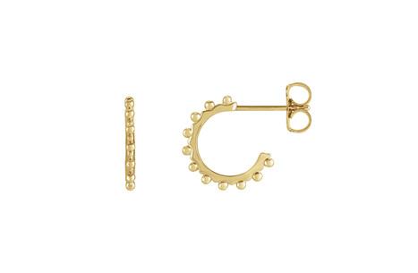 Geometric Bubble Detail Hoop Earrings