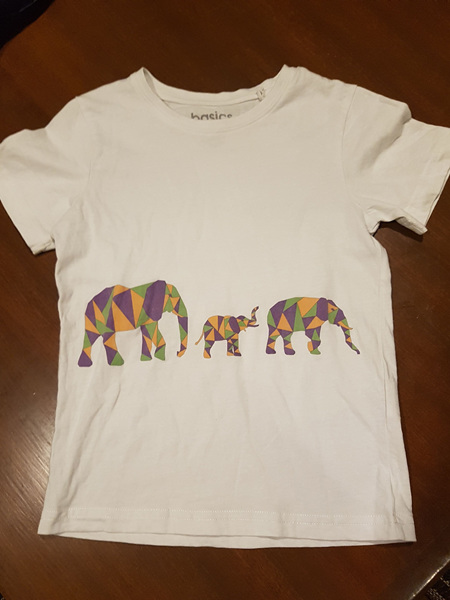 Geometric Elephants T-shirt