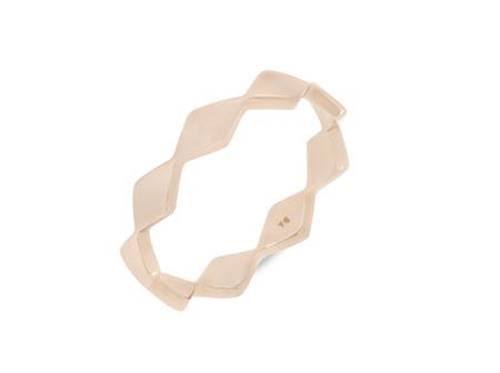 Geometric Patterned Wedding Ring