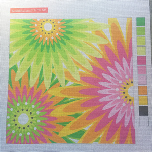 Gerbera needlepoint canvas