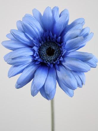 Gerbera wide petal 1118 1116 the silk flower company gerbera wide petal artificial silk blue stem length 57cm flower head diameter 12cm mightylinksfo Gallery