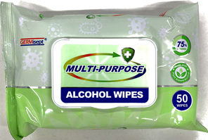 GERMISEPT 75% ALCOHOL WIPES 50 Pack