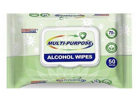 Germsept M/Purp Alcohol Wipes 50pk