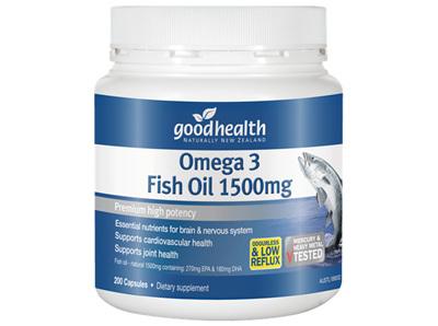 GH OMEGA 3 FISH OIL 1500MG 200 CAPS