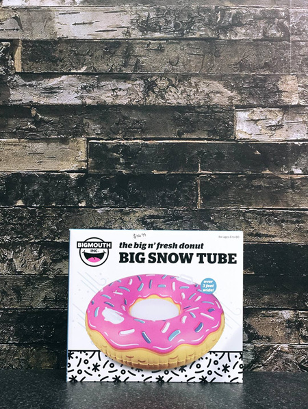 GIANT FROSTED DONUT SNOW TUBE