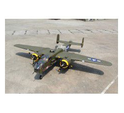 Giant Mitchell B-25 span 95in, 20cc w/3pcs Alloy Hub Rubber wheels 4.5in (2) and 2.75in, Without Ret