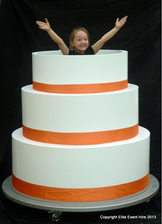 Girl Popping Out Of Birthday Cake Image