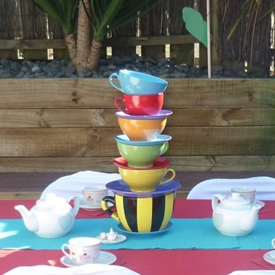 Giant Teacup Centrepiece Stack