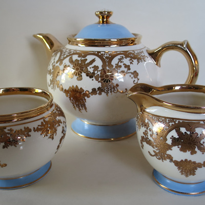 Three piece tea set