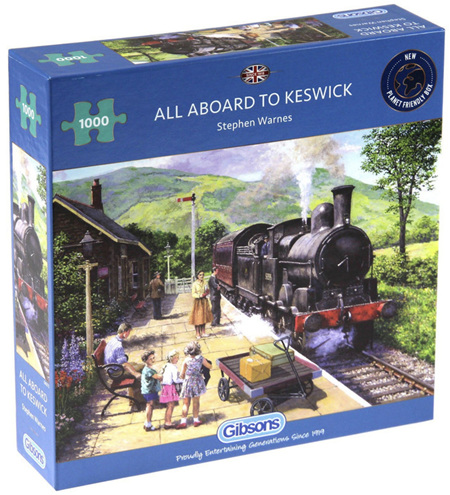 Gibsons 1000 Piece Jigsaw Puzzle: All Aboard to Keswick