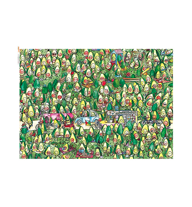 Gibsons 1000 piece jigsaw puzzle Avocado Park  buy at www.puzzlesnz.co.nz