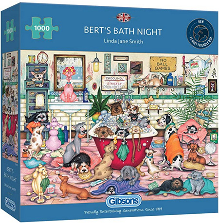 Gibsons 1000 Piece Jigsaw Puzzle: Berts Bath Night