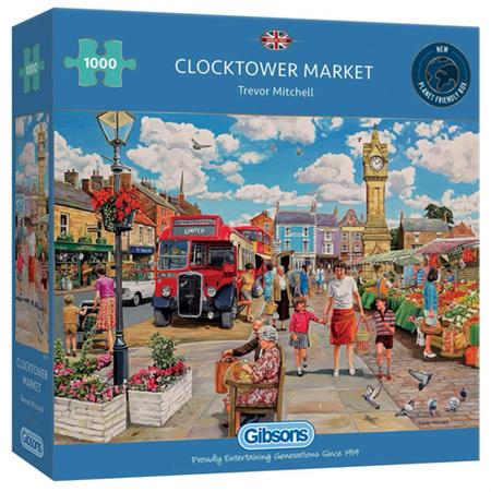 Gibsons 1000 Piece Jigsaw Puzzle: Clocktower Market