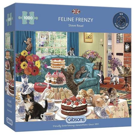 Gibsons 1000 Piece Jigsaw Puzzle: Feline Frenzy