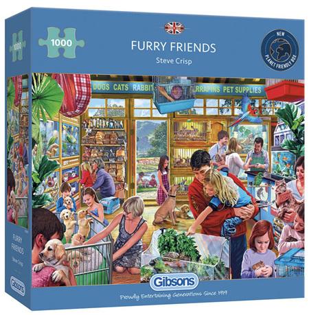 Gibsons 1000 Piece Jigsaw Puzzle: Furry Friends