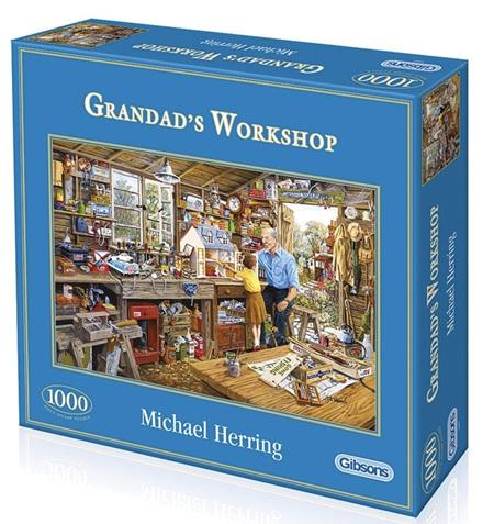 Gibsons 1000 Piece Jigsaw Puzzle: Grandad's Workshop
