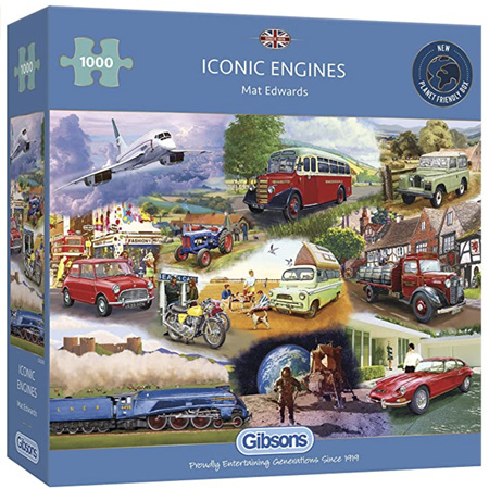 Gibsons 1000 Piece Jigsaw Puzzle: Iconic Engines