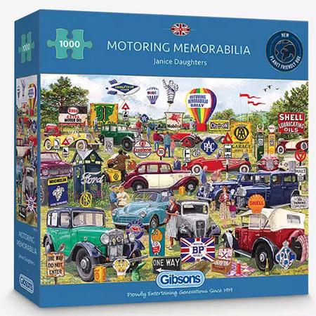 Gibsons 1000 Piece Jigsaw Puzzle: Motoring Memorabilia