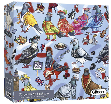 Gibsons 1000 Piece Jigsaw Puzzle: Pigeons Of Britain