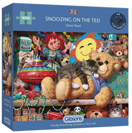 Gibsons 1000 Piece Jigsaw Puzzle: Snoozing On The Ted