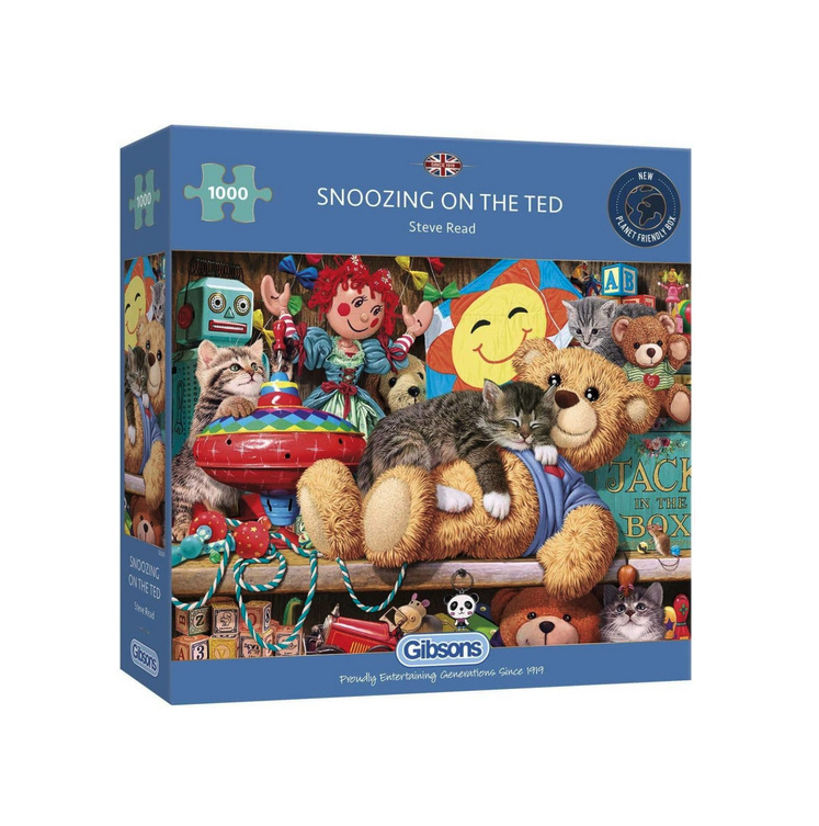 Gibsons 1000 piece jigsaw puzzle Snoozing On The Ted buy at www.puzzlesnz.co.nz