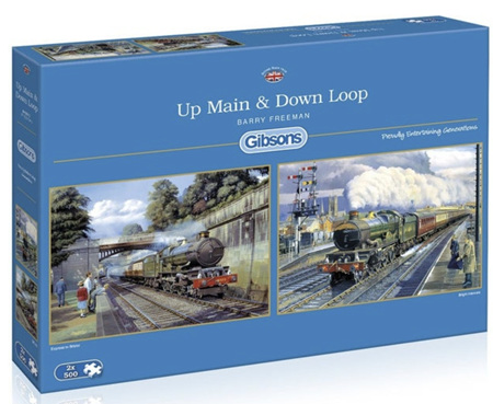 Gibsons  2 x 500 Piece Jigsaw Puzzles: Up Main & Down Loop