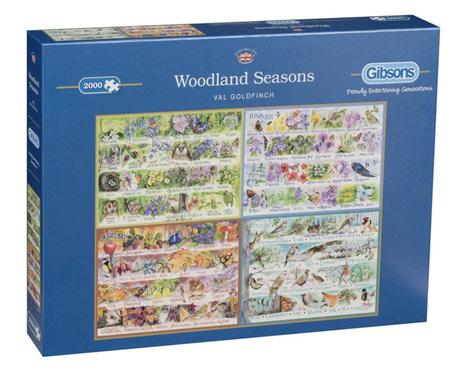 Gibsons 2000 Piece Jigsaw Puzzle: Woodland Seasons