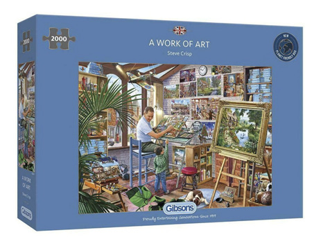Gibsons 2000 Piece Jigsaw Puzzle: Work Of Art