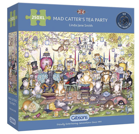 Gibsons 250XL  Piece Jigsaw Puzzle: Mad Catters Tea Party