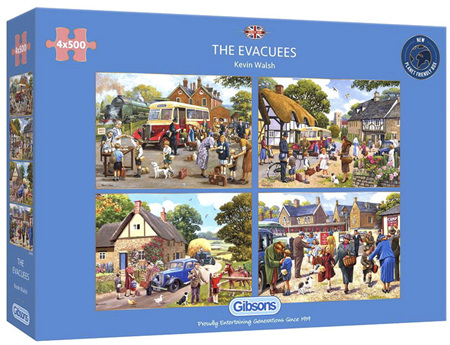 Gibsons 4 x 500 Piece Jigsaw Puzzles: The Evacuees