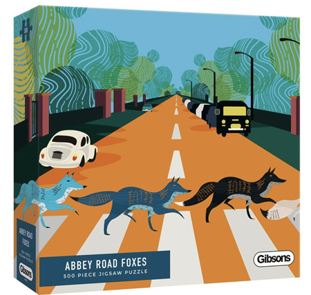 Gibsons 500 Piece Jigsaw Puzzle: Abbey Road Foxes