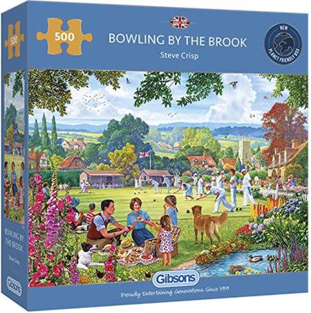 Gibsons 500 Piece Jigsaw Puzzle: Bowling By The Brook