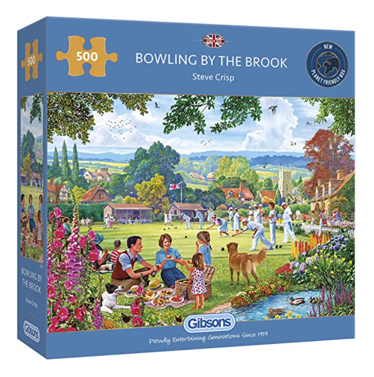 Gibsons 500 piece jigsaw puzzle Bowling By The Brook buy at www.puzzlesnz.co.nz