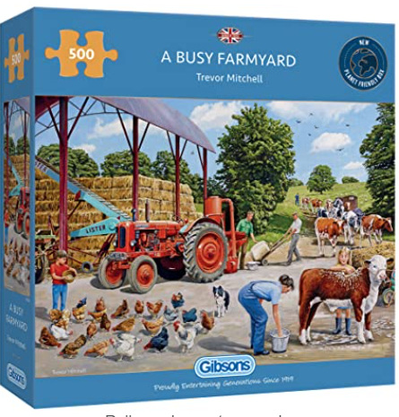 Gibsons 500 Piece Jigsaw Puzzle: Busy Farmyard