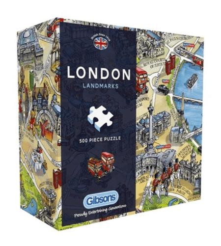 Gibsons 500 Piece Jigsaw Puzzle: London Landmarks