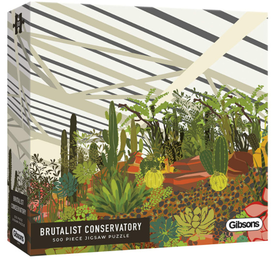Gibsons 500 piece puzzle Brutalist Conservatory buy at www.puzzlesnz.co.nz