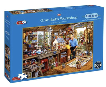 Gibsons  500XL  Piece Jigsaw Puzzles: Granddads Workshop